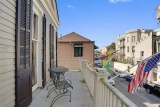 <h5>Balcony Queen Private Balcony</h5><p>Private balcony deck overlooking the quiet end of Bourbon Street, complete with wrought-iron table and chairs.</p>