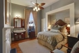 <h5>Deluxe Queen</h5><p>Upstairs guest room featuring Stearns & Foster queen sized bed and private bath.</p>