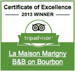 tripadvisior Certificate of Excellence Winner: 2013