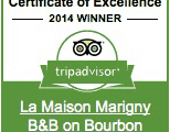 tripadvisior Certificate of Excellence Winner: 2014