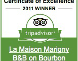 tripadvisior Certificate of Excellence Winner: 2011