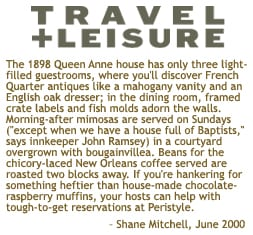 Travel + Leisure magazine clipping, June 2000