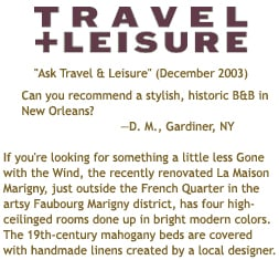 Travel + Leisure Clipping (December 2003)
